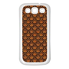 Scales2 Black Marble & Rusted Metal Samsung Galaxy S3 Back Case (white) by trendistuff