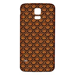 Scales2 Black Marble & Rusted Metal Samsung Galaxy S5 Back Case (white) by trendistuff