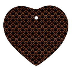 Scales2 Black Marble & Rusted Metal (r) Ornament (heart) by trendistuff