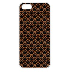 Scales2 Black Marble & Rusted Metal (r) Apple Iphone 5 Seamless Case (white) by trendistuff