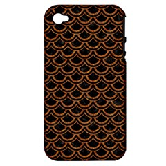 Scales2 Black Marble & Rusted Metal (r) Apple Iphone 4/4s Hardshell Case (pc+silicone) by trendistuff