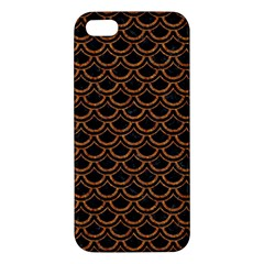 Scales2 Black Marble & Rusted Metal (r) Apple Iphone 5 Premium Hardshell Case by trendistuff