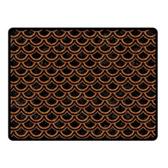 Scales2 Black Marble & Rusted Metal (r) Double Sided Fleece Blanket (small)  by trendistuff