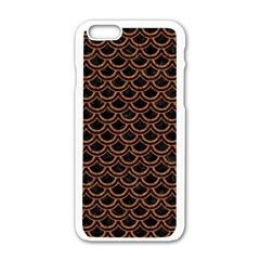 Scales2 Black Marble & Rusted Metal (r) Apple Iphone 6/6s White Enamel Case by trendistuff