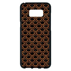 Scales2 Black Marble & Rusted Metal (r) Samsung Galaxy S8 Plus Black Seamless Case by trendistuff