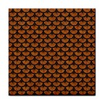 SCALES3 BLACK MARBLE & RUSTED METAL Tile Coasters
