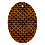 SCALES3 BLACK MARBLE & RUSTED METAL Ornament (Oval)