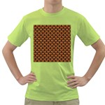 SCALES3 BLACK MARBLE & RUSTED METAL Green T-Shirt