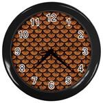 SCALES3 BLACK MARBLE & RUSTED METAL Wall Clocks (Black)