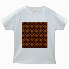 Scales3 Black Marble & Rusted Metal Kids White T Shirts by trendistuff