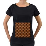 SCALES3 BLACK MARBLE & RUSTED METAL Women s Loose-Fit T-Shirt (Black)