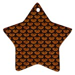 SCALES3 BLACK MARBLE & RUSTED METAL Star Ornament (Two Sides)