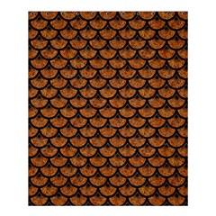 Scales3 Black Marble & Rusted Metal Shower Curtain 60  X 72  (medium)  by trendistuff