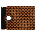 SCALES3 BLACK MARBLE & RUSTED METAL Apple iPad Mini Flip 360 Case