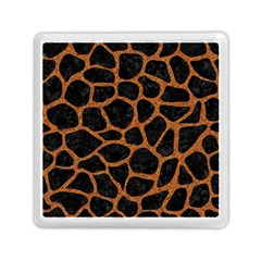 Skin1 Black Marble & Rusted Metal Memory Card Reader (square)  by trendistuff