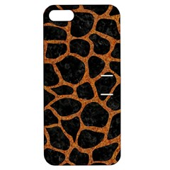 Skin1 Black Marble & Rusted Metal Apple Iphone 5 Hardshell Case With Stand by trendistuff