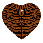 SKIN2 BLACK MARBLE & RUSTED METAL Ornament (Heart)