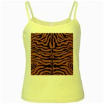 SKIN2 BLACK MARBLE & RUSTED METAL Yellow Spaghetti Tank