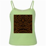 SKIN2 BLACK MARBLE & RUSTED METAL Green Spaghetti Tank