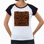 SKIN2 BLACK MARBLE & RUSTED METAL Women s Cap Sleeve T
