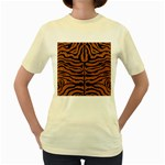 SKIN2 BLACK MARBLE & RUSTED METAL Women s Yellow T-Shirt