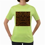 SKIN2 BLACK MARBLE & RUSTED METAL Women s Green T-Shirt
