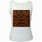 SKIN2 BLACK MARBLE & RUSTED METAL Women s White Tank Top