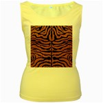 SKIN2 BLACK MARBLE & RUSTED METAL Women s Yellow Tank Top