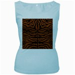 SKIN2 BLACK MARBLE & RUSTED METAL Women s Baby Blue Tank Top