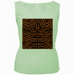 SKIN2 BLACK MARBLE & RUSTED METAL Women s Green Tank Top
