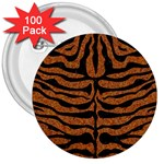 SKIN2 BLACK MARBLE & RUSTED METAL 3  Buttons (100 pack)