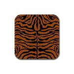 SKIN2 BLACK MARBLE & RUSTED METAL Rubber Square Coaster (4 pack)