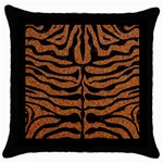 SKIN2 BLACK MARBLE & RUSTED METAL Throw Pillow Case (Black)