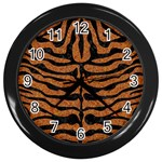 SKIN2 BLACK MARBLE & RUSTED METAL Wall Clocks (Black)