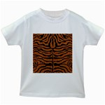 SKIN2 BLACK MARBLE & RUSTED METAL Kids White T-Shirts