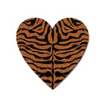 SKIN2 BLACK MARBLE & RUSTED METAL Heart Magnet