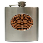 SKIN2 BLACK MARBLE & RUSTED METAL Hip Flask (6 oz)