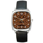 SKIN2 BLACK MARBLE & RUSTED METAL Square Metal Watch