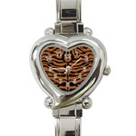SKIN2 BLACK MARBLE & RUSTED METAL Heart Italian Charm Watch