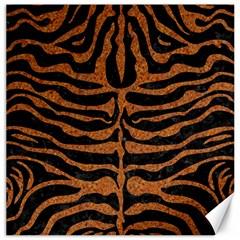 Skin2 Black Marble & Rusted Metal (r) Canvas 12  X 12   by trendistuff
