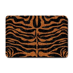 Skin2 Black Marble & Rusted Metal (r) Small Doormat  by trendistuff