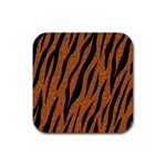 SKIN3 BLACK MARBLE & RUSTED METAL Rubber Coaster (Square)