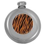 SKIN3 BLACK MARBLE & RUSTED METAL Round Hip Flask (5 oz)