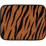 SKIN3 BLACK MARBLE & RUSTED METAL Fleece Blanket (Mini)