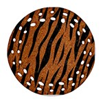 SKIN3 BLACK MARBLE & RUSTED METAL Ornament (Round Filigree)