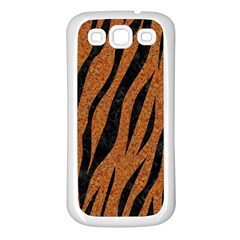 Skin3 Black Marble & Rusted Metal Samsung Galaxy S3 Back Case (white) by trendistuff