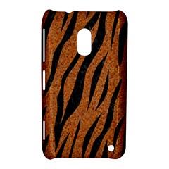 Skin3 Black Marble & Rusted Metal Nokia Lumia 620 by trendistuff