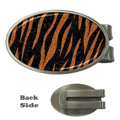 Skin3 Black Marble & Rusted Metal (r) Money Clips (oval)  by trendistuff