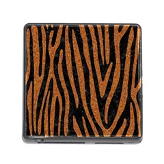Skin4 Black Marble & Rusted Metal Memory Card Reader (square)