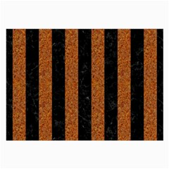 Stripes1 Black Marble & Rusted Metal Large Glasses Cloth by trendistuff